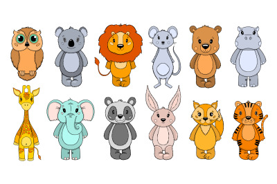 Animal cute set
