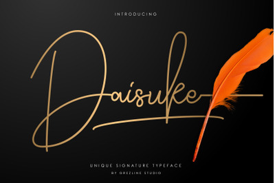 Daisuke - Signature Font