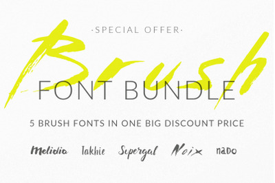 Brush Greek Font Pack