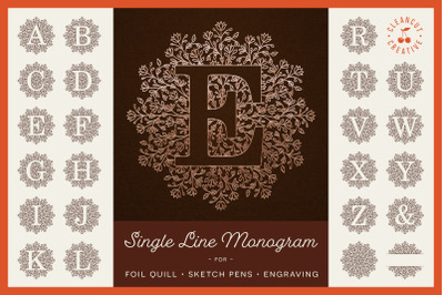 Foil Quill | Infusible Ink Pens | Single Line MANDALA MONOGRAM ALPHA