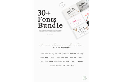 30+ Greek Fonts Bundle