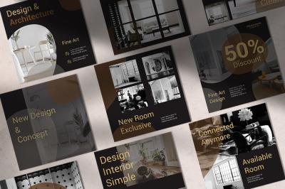 Interior Instagram Templates