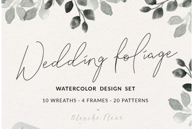 Wedding Watercolor Foliage Design