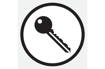 Key icon monochrome black white
