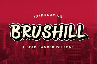 BRUSHILL - Handbrush Font