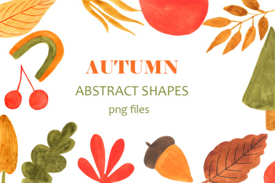 Autumn abstract shapes