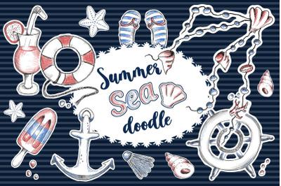 Summer sea doodle