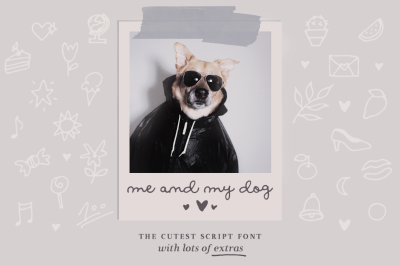 Me and my dog script font family