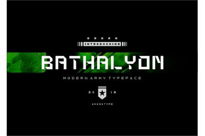 BATHALYON ARMY | Modern Display Font