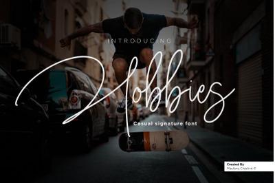 Hobbies Signature Font
