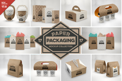 VOL 17. Paper Box Packaging Mockup Collection