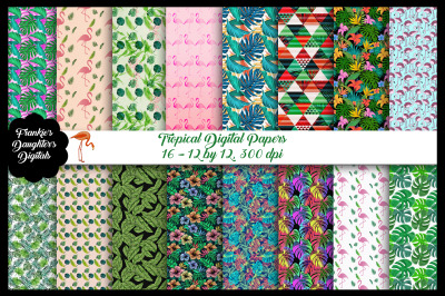 Tropical Digital Papers