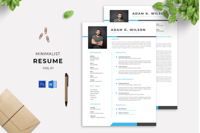 Minimalist Resume Vol 01