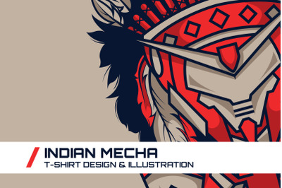 Indian Mecha T-Shirt Illustration