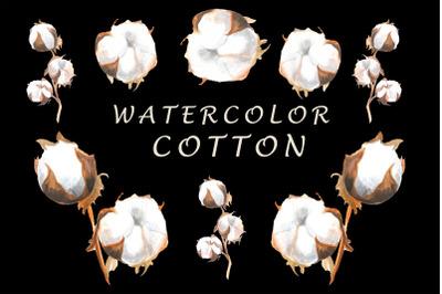 Watercolor cotton