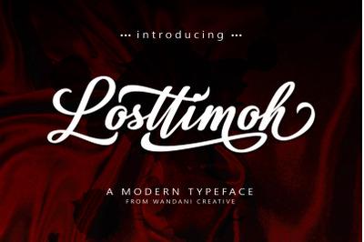 Losttimoh | A Modern script