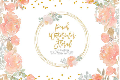fall floral clipart, Dusty Rose Pink Peach Watercolor Floral Bouquets,