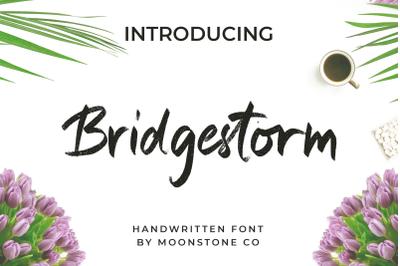 Bridgestorm Modern Handwritten Font