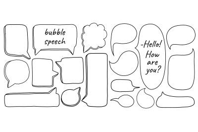 Speech hand draw