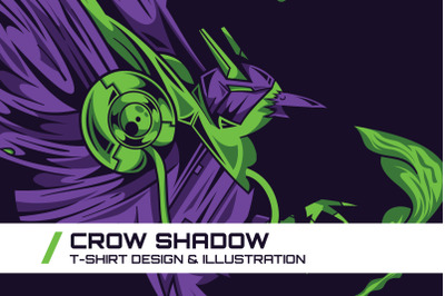 Crow Shadow T-Shirt Illustration