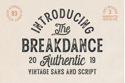 Breakdance Vintage Font Duo