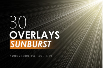 30 Sunburst Overlays