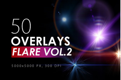 50 Flare & Stars Overlays Volume 2
