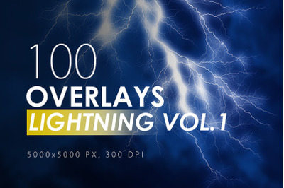 100 Lightning Overlays Vol. 1