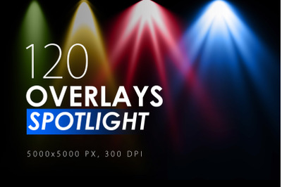 120 Colorful Spotlight Overlays