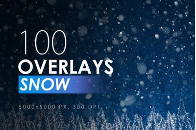 100 Snow Overlays