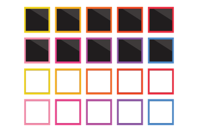 Square Instant Film Frame Clip Art