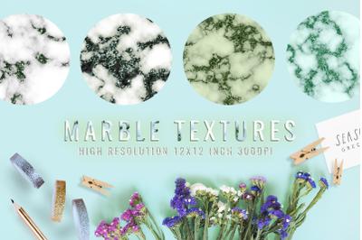 Emerald digital paper, green marble textures