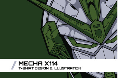 Mecha X114 T-Shirt Illustration
