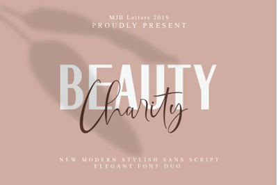 Beauty Charity Font Duo