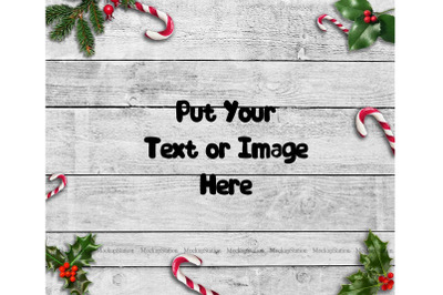 Christmas Background, Winter Wood Digital Backdrop Scene