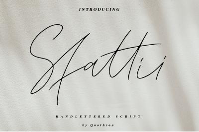 Sfattii - Script font