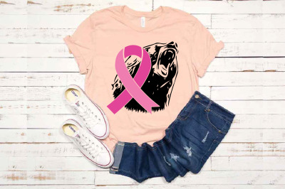 Bear Power - Fight Breast Cancer Gone Wild Go fight Cure Cheer 1555s