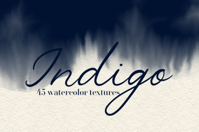 Indigo - 45 Watercolor Textures