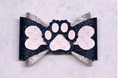 Paw Hair bow template SVG, DXF, PDF with DIY tutorial