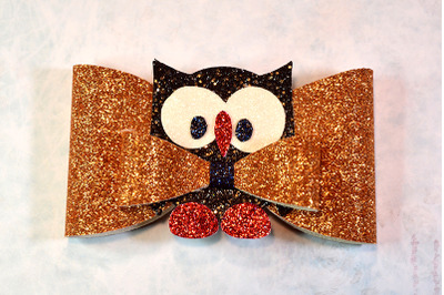 Owl Hair bow template SVG, DXF, PDF with DIY tutorial