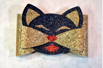 Cat Hair bow template SVG, DXF, PDF with DIY tutorial