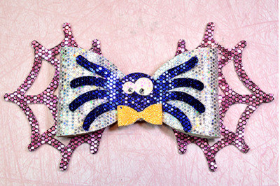 Spider Hair bow template SVG, DXF, PDF with DIY tutorial