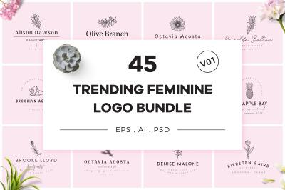 Trending Feminine Logo Bundle V01