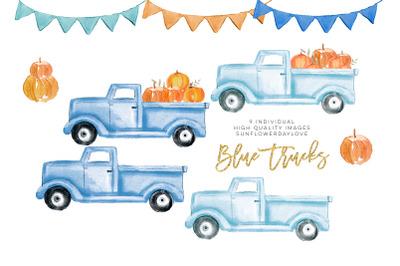Fall Pumpkin Truck Clipart, Thanksgiving clipart