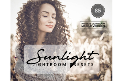 85 Sunlight Lightroom Mobile Presets