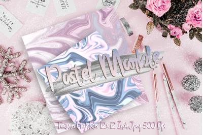 Pastel Marble Digital Paper textures