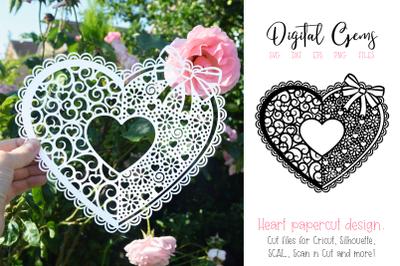 Heart paper cut design