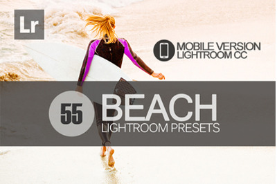 55 Beach Lightroom Mobile Presets