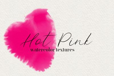 Hot Pink - 45 Watercolor Textures