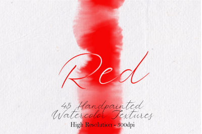 Red - 45 Watercolor Textures